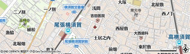 愛知県東海市高横須賀町(米屋)周辺の地図