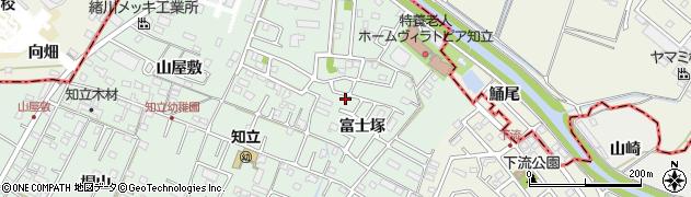 愛知県知立市山屋敷町(富士塚)周辺の地図