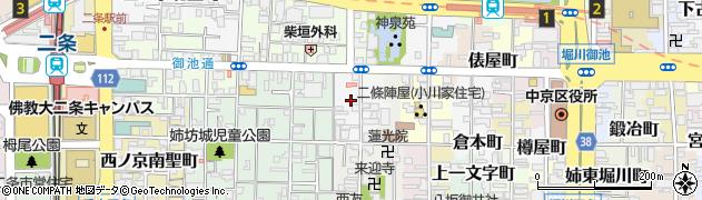 京都府京都市中京区神泉苑町周辺の地図
