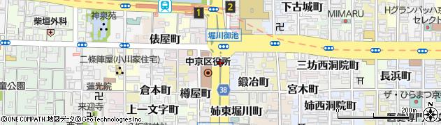 京都府京都市中京区西三坊堀川町周辺の地図