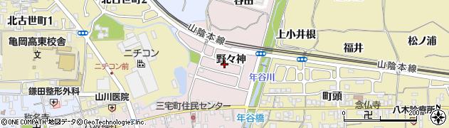 京都府亀岡市三宅町(野々神)周辺の地図