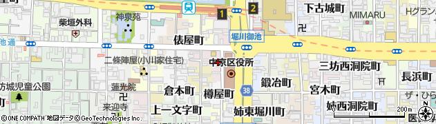京都府京都市中京区上巴町周辺の地図