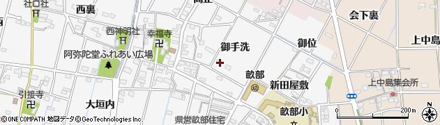 愛知県豊田市畝部西町(御手洗)周辺の地図