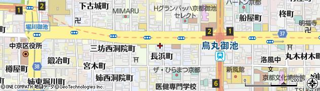 京都府京都市中京区長浜町周辺の地図
