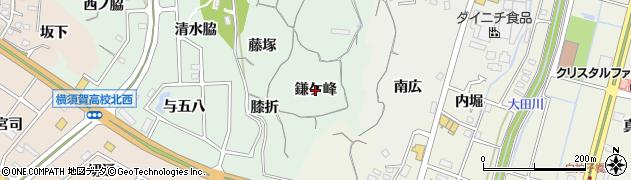 愛知県東海市大田町(鎌ケ峰)周辺の地図