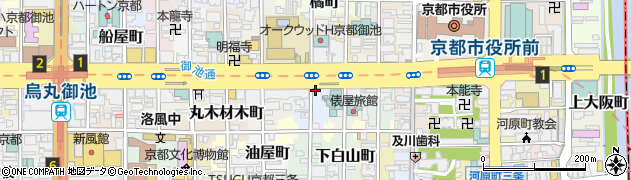 京都府京都市中京区松下町周辺の地図