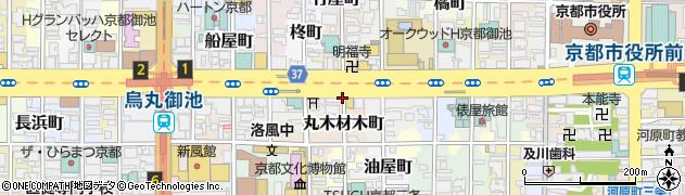 京都府京都市中京区丸木材木町周辺の地図