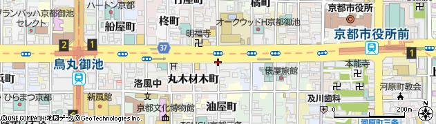 京都府京都市中京区柳八幡町周辺の地図