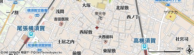 愛知県東海市高横須賀町周辺の地図