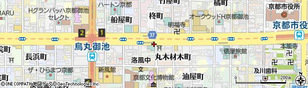京都府京都市中京区亀甲屋町周辺の地図