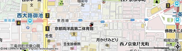 京都府京都市中京区西ノ京樋ノ口町周辺の地図