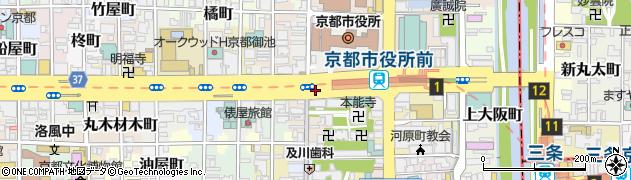京都府京都市中京区下本能寺前町周辺の地図
