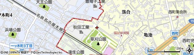 愛知県知立市西町(逢生)周辺の地図