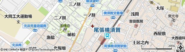 愛知県東海市養父町(元藪下)周辺の地図