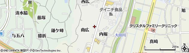 愛知県東海市富木島町(南広)周辺の地図