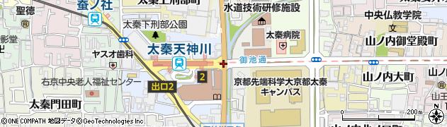 天神川御池周辺の地図