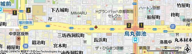 京都府京都市中京区西横町周辺の地図