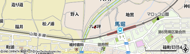 京都府亀岡市篠町山本(六ノ坪)周辺の地図