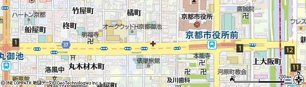 京都府京都市中京区御池大東町周辺の地図