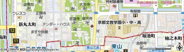 京都府京都市左京区東門前町周辺の地図
