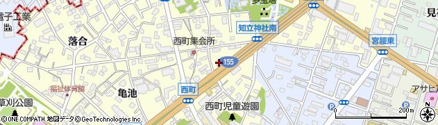 愛知県知立市西町(西)周辺の地図
