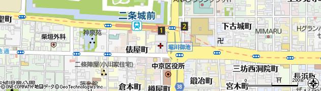 京都府京都市中京区池元町周辺の地図