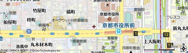 京都府京都市中京区上本能寺前町周辺の地図
