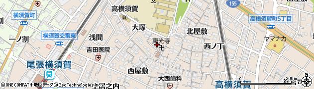 愛知県東海市高横須賀町(戌亥屋敷)周辺の地図