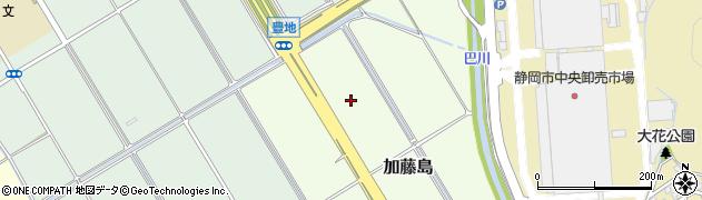 静岡県静岡市葵区加藤島周辺の地図