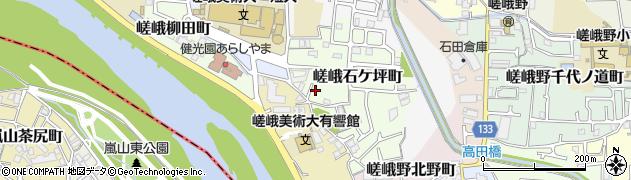 京都府京都市右京区嵯峨石ケ坪町周辺の地図