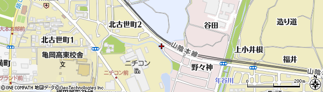 京都府亀岡市古世町(東内坪)周辺の地図