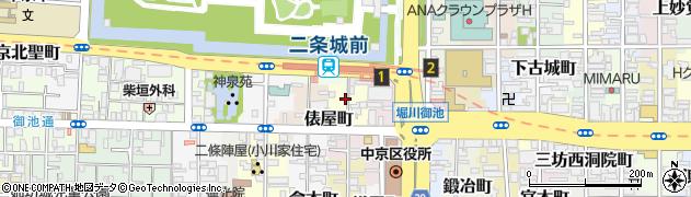 京都府京都市中京区最上町周辺の地図