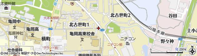 京都府亀岡市北古世町周辺の地図