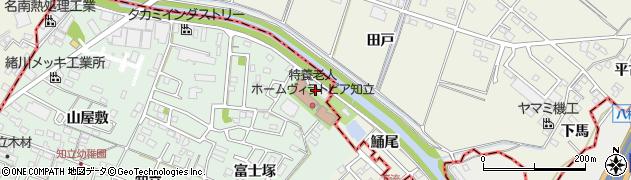愛知県知立市山屋敷町(鯒尾)周辺の地図