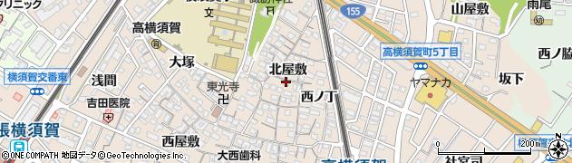 愛知県東海市高横須賀町(北屋敷)周辺の地図