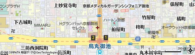 京都府京都市中京区二条殿町周辺の地図