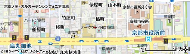京都府京都市中京区守山町周辺の地図