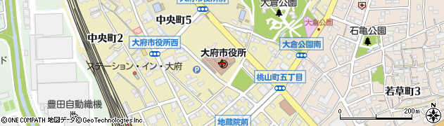 愛知県大府市周辺の地図