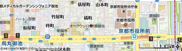 京都府京都市中京区上白山町周辺の地図