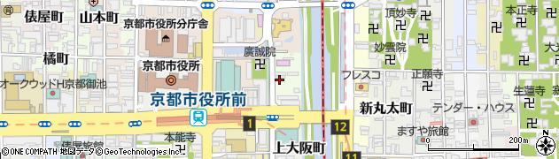 京都府京都市中京区上樵木町周辺の地図