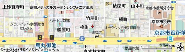 京都府京都市中京区扇屋町周辺の地図