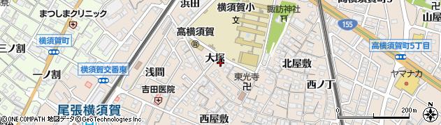 愛知県東海市高横須賀町(大塚)周辺の地図