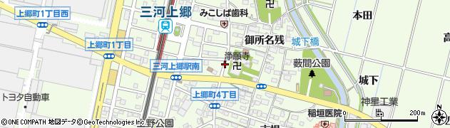 愛知県豊田市上郷町(山畑)周辺の地図