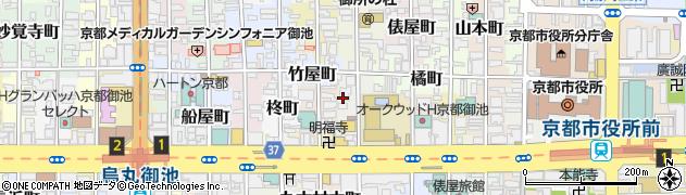 京都府京都市中京区虎石町周辺の地図