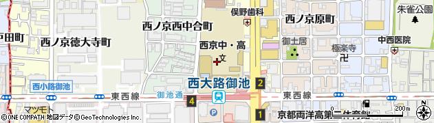 京都府京都市中京区西ノ京東中合町周辺の地図
