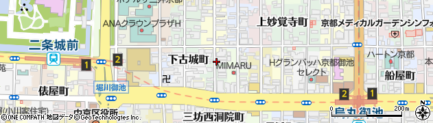 京都府京都市中京区押西洞院町周辺の地図