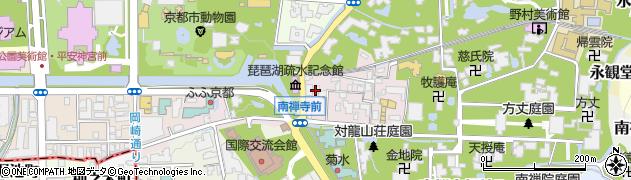 京都府京都市左京区南禅寺草川町周辺の地図