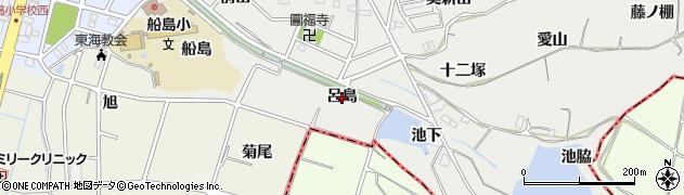 愛知県東海市富木島町(呂島)周辺の地図