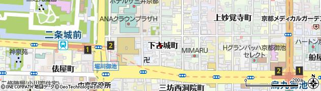 京都府京都市中京区下古城町周辺の地図