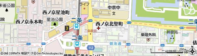 京都府京都市中京区西ノ京北聖町周辺の地図